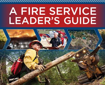 Cover of book titled A Fire Service Leader's Guide