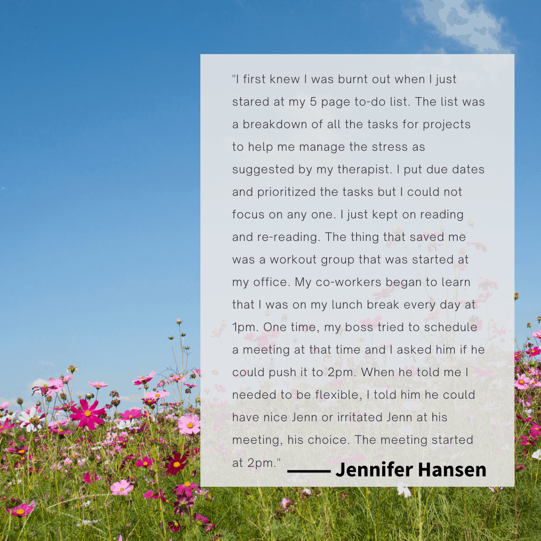 A photo of a sky and flowers in a field with a text box overlaid