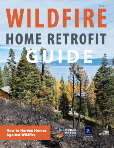"""Cover of a report entitled """"Wildfire Home Retrofit Guide"""""""