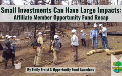 Small Investments Can Have Large Impacts: Affiliate Member Opportunity Fund Recap