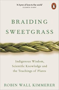 Book cover entitled Braiding Sweetgrass
