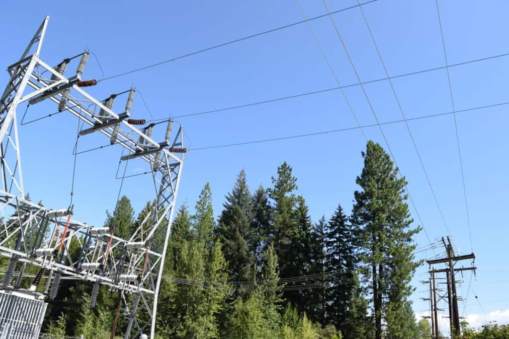 Photo of high tension powerlines